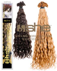 Кудрявые волосы для наращивания на капсулах
