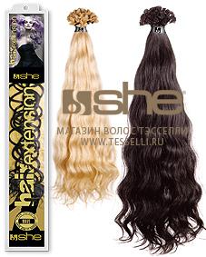 Волнистые волосы для наращивания на капсулах