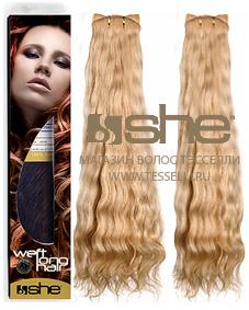 Волнистые волосы на трессах