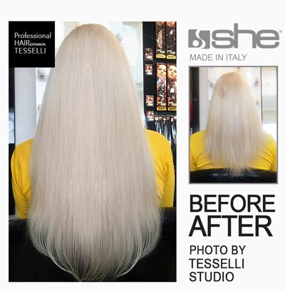 Фотогалерея наращивание волос до и после