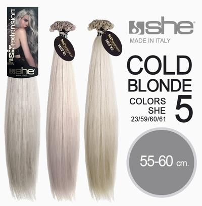 Волосы на капсуле, холодный блонд