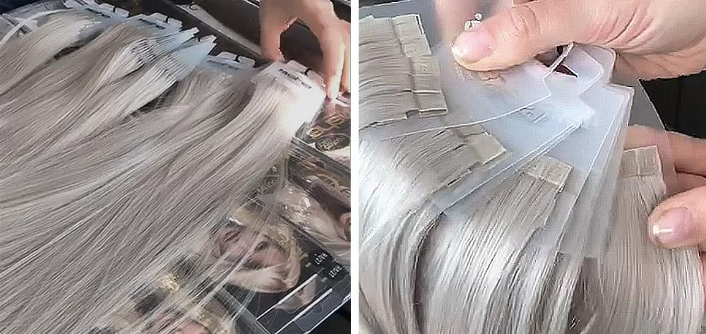 пряди на полимерной ленте