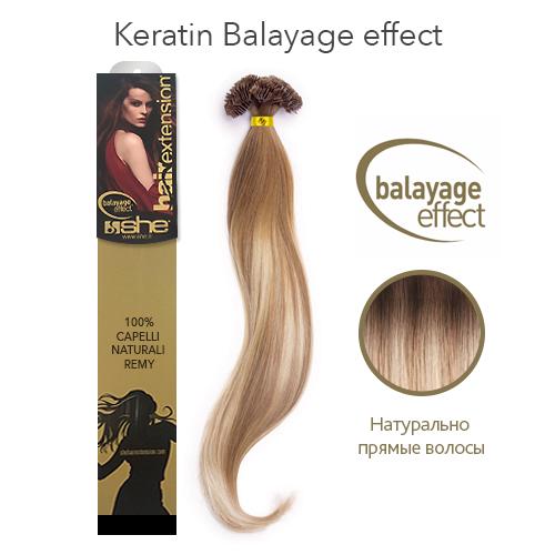 Прямые волосы на кератиновой капсуле окрашивание балаяж