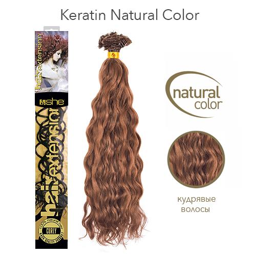 Кудрявые волосы на кератиновой капсуле для наращивания